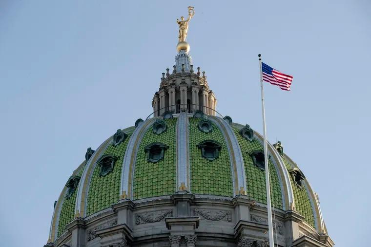 The Pennsylvania Capitol building in Harrisburg, Pa.