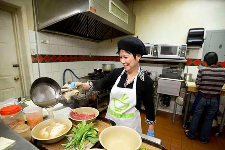 Dung Tran - owner chef runs the show at Cafe Thanh Long  at 2534-36 Kensington Ave. ( DAVID SWANSON / Staff Photographer )