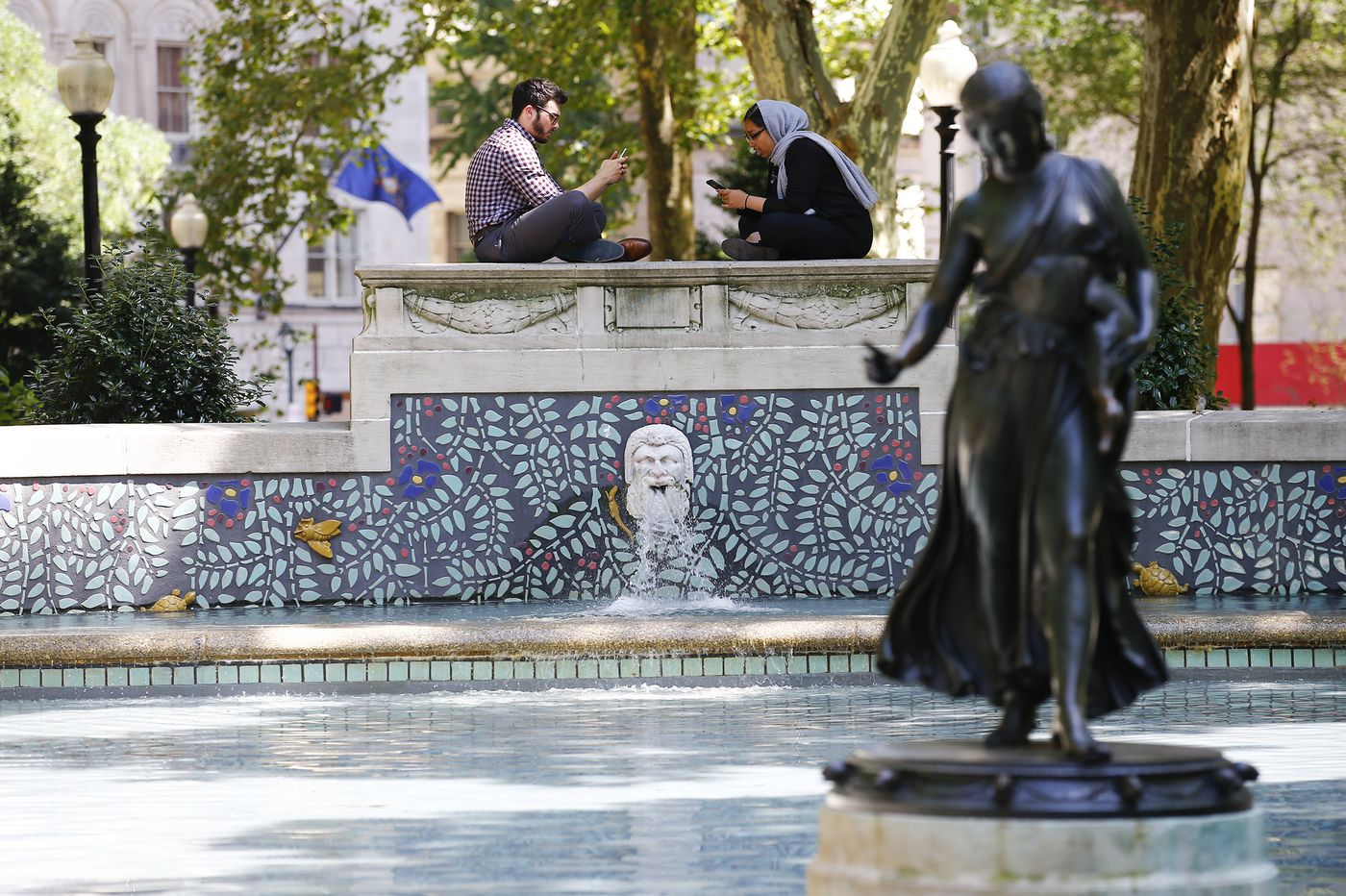 How Rittenhouse Square got its fountain, and how it's used today