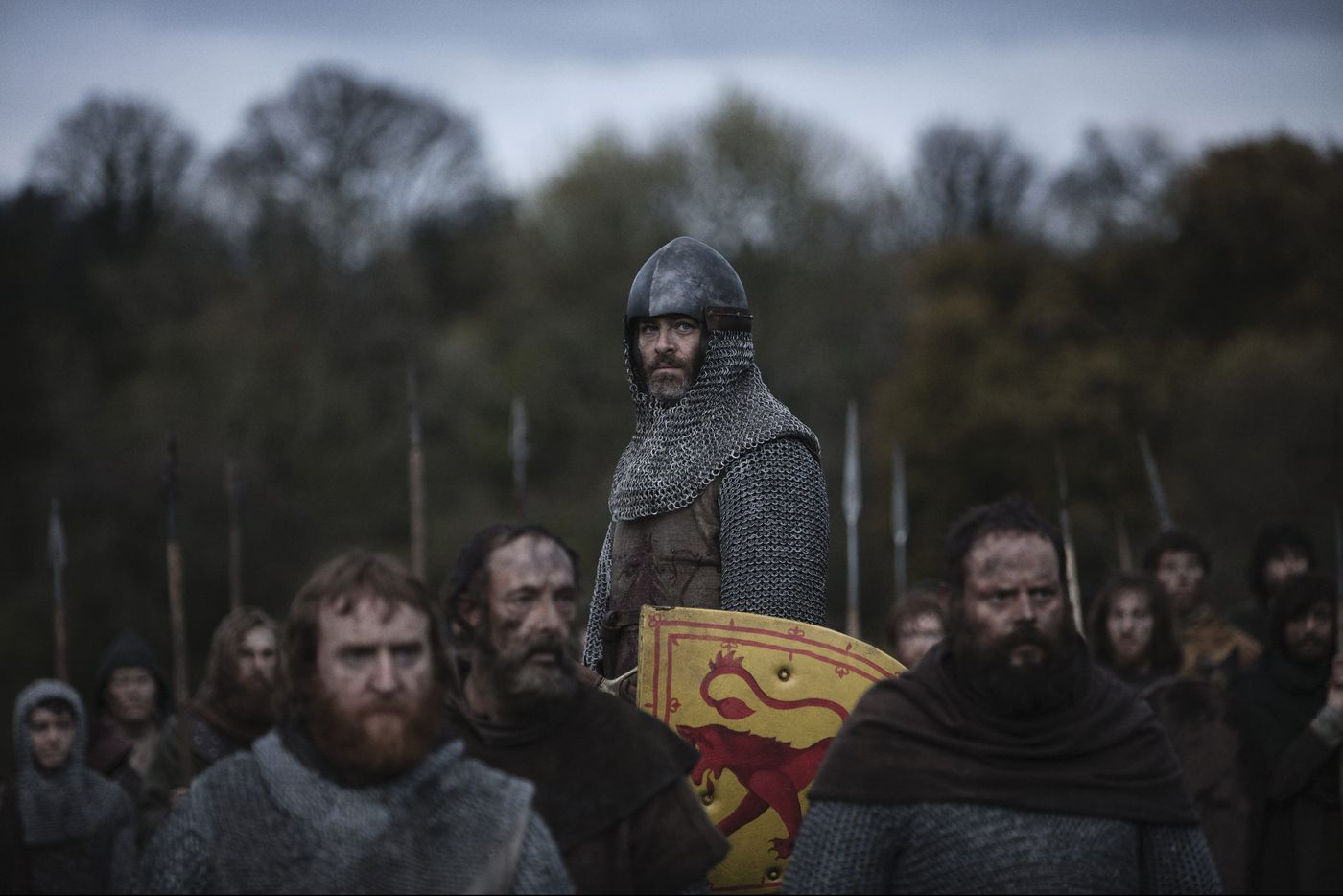 Chris Pine a bit wooden in Netflix's 'The Outlaw King'