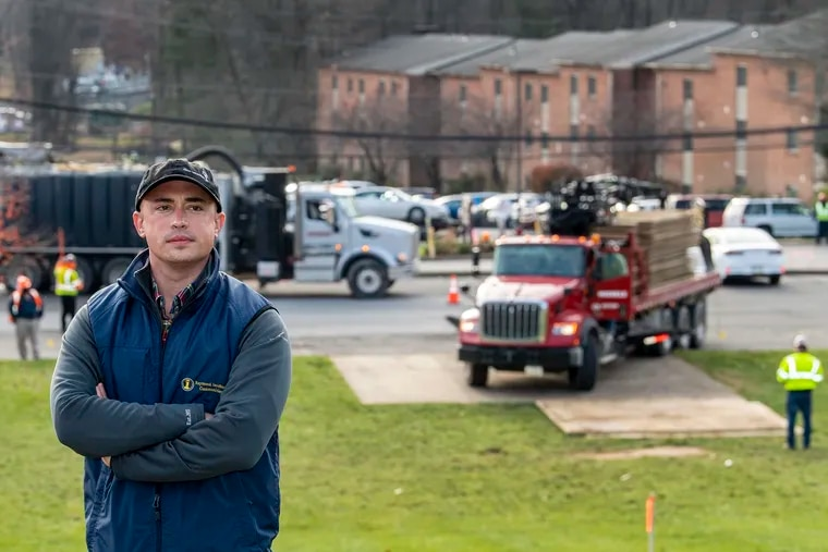Stephen A. Iacobucci objects to the way that Sunoco Pipeline is building its Mariner East pipelines through the Glen Riddle Station Apartments his family owns in Middletown Township.