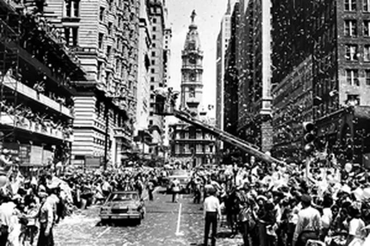 The 76ers' 1982-83 NBA championship was celebrated with a parade along Broad Street. Perhaps the 2000-01 team, which lost in the Finals, deserved one as well.