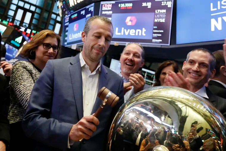 Paul Graves, Livent president and CEO, ringing a ceremonial bell at the New York Stock Exchange as his company's IPO began trading on Oct. 11, 2018. Market conditions for the white metal have changed a lot since then.