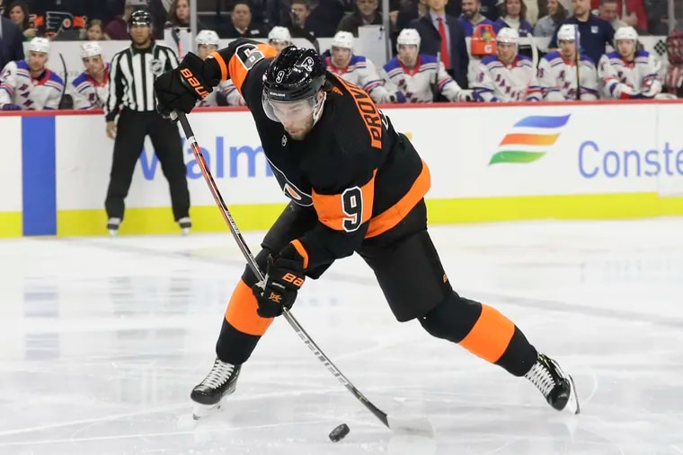 Ivan Provorov leads all NHL defensemen with six power-play goals.