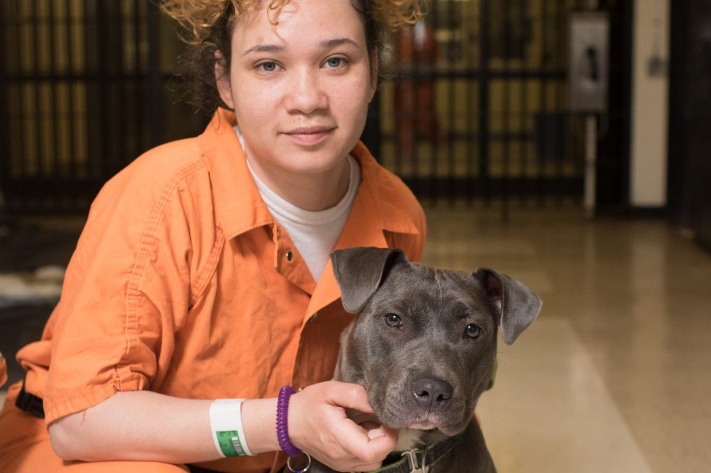 A woman in jail, a dog on death row: When Bryon met Olympia, a forsaken pit mix