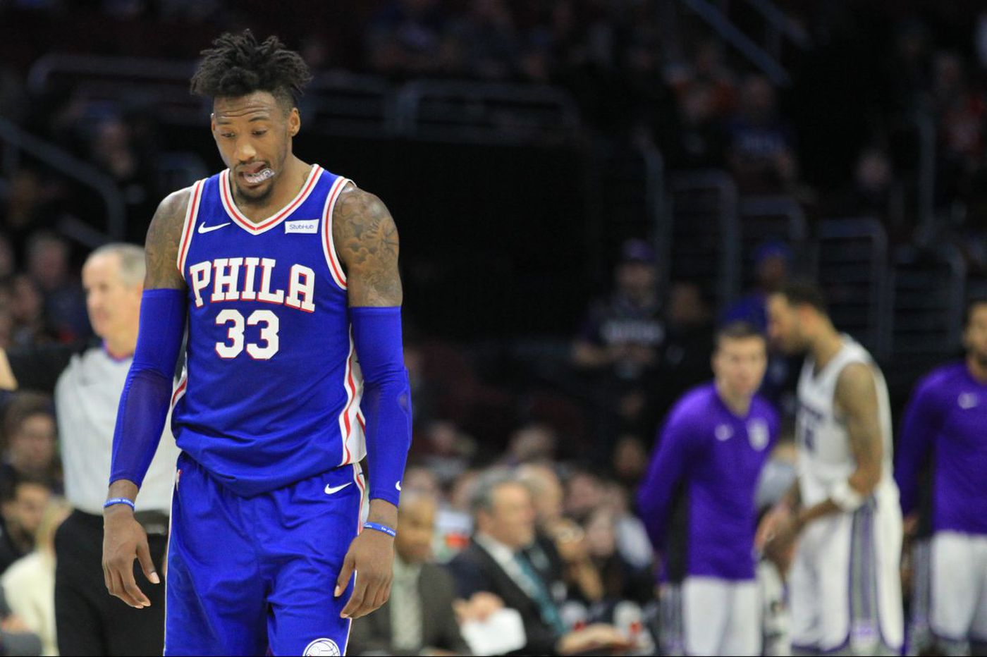 Sixers' Robert Covington still dealing with back stiffness