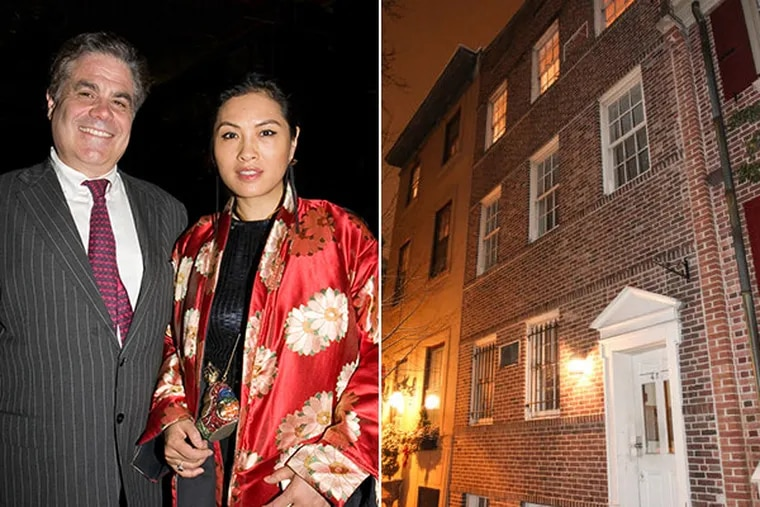 A lawsuit by Stuart Venner's wife, Grace Chang Venner (right), alleged Stuart Venner (left) let his mistress live in his Society Hill condo (far right) in exchange for sex. (Left photo: Cut McGill, right: Steven M. Falk/Staff)