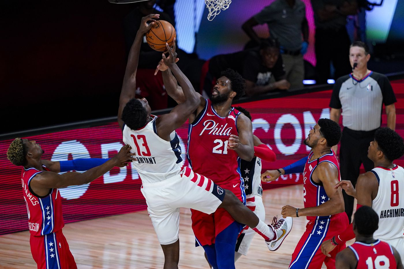 Joel Embiid came to Disney World to play, but Ben Simmons' knee injury looms larger for the Sixers | David Murphy