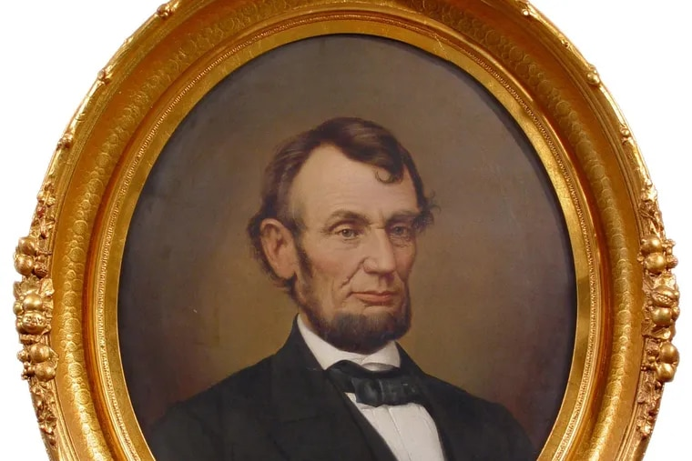 Portrait of Abraham Lincoln by David Bustill Bowser, an African-American artist (circa 1864-1868) at the National Constitution Center