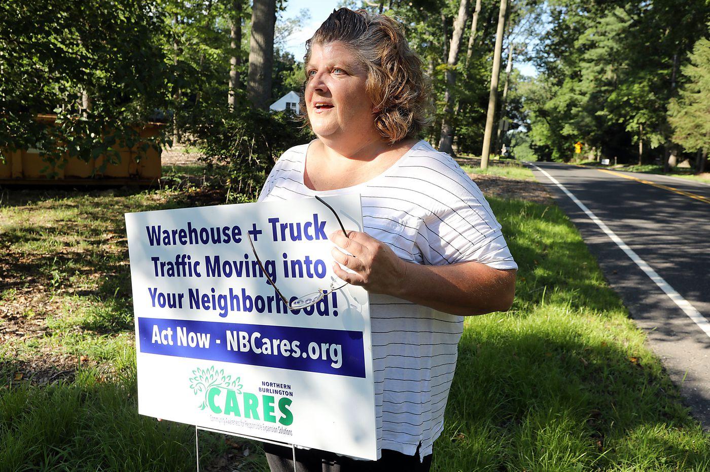 Near Amazon centers in rural Burlington County, other mega-warehouse plans stir fear of rumbling traffic