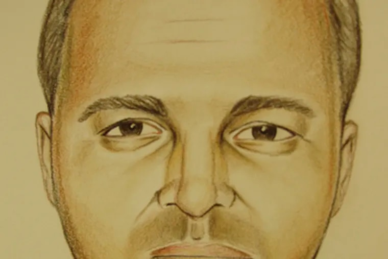 Sketch of victim found in woods in Hamilton Township.