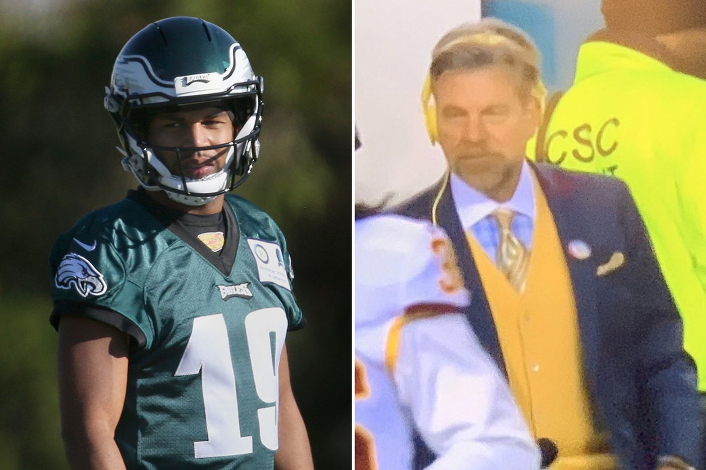 Golden Tate mocked WIP host Howard Eskin's 'banana pudding' outfit