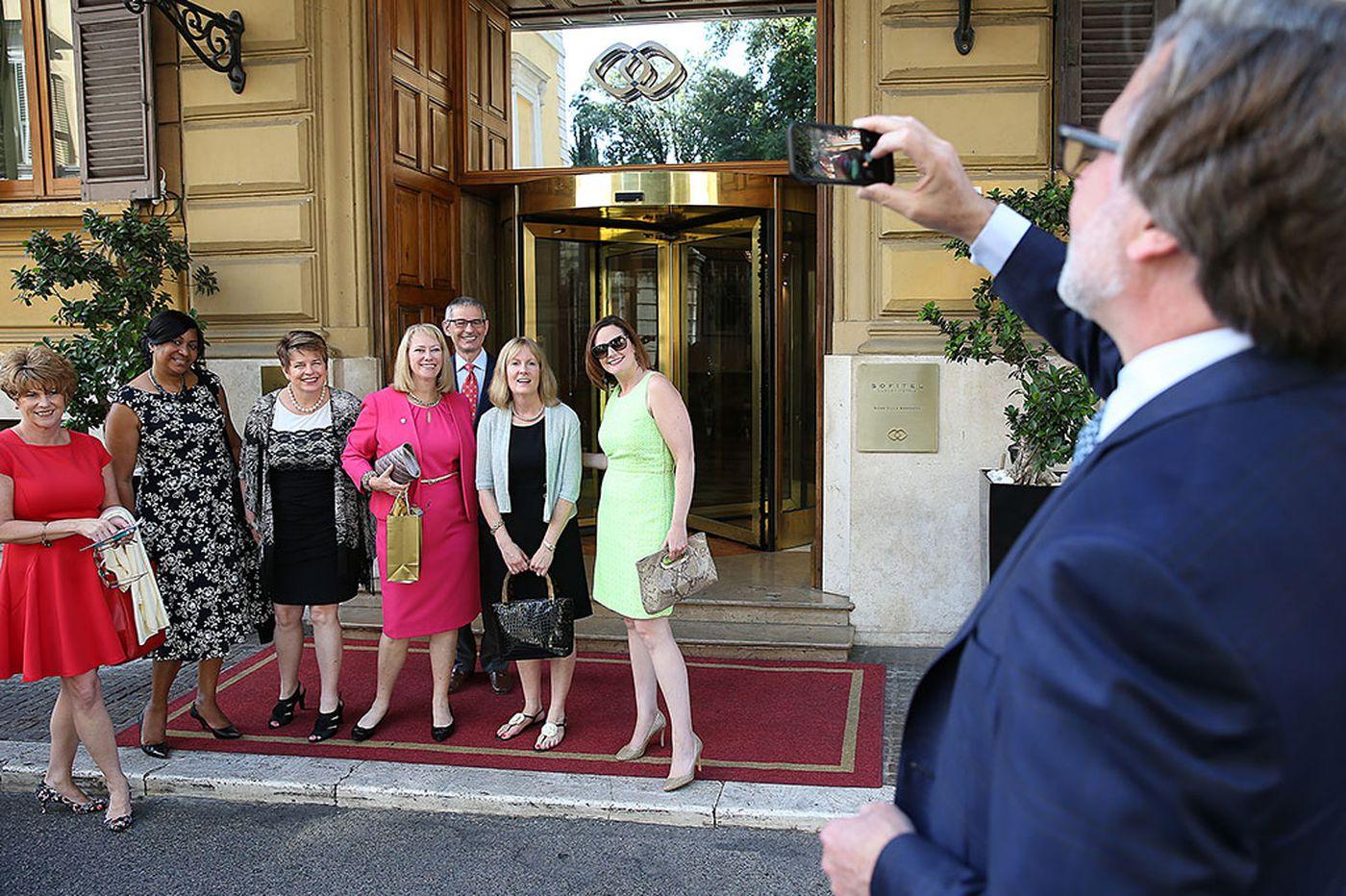 Philadelphia delegation lands in Rome, gets to work