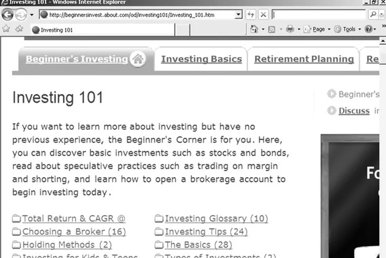"""Investing 101. Here at About.com is a """"beginner's corner"""" for would-be investors in today's low market. The first lesson: Buy low."""