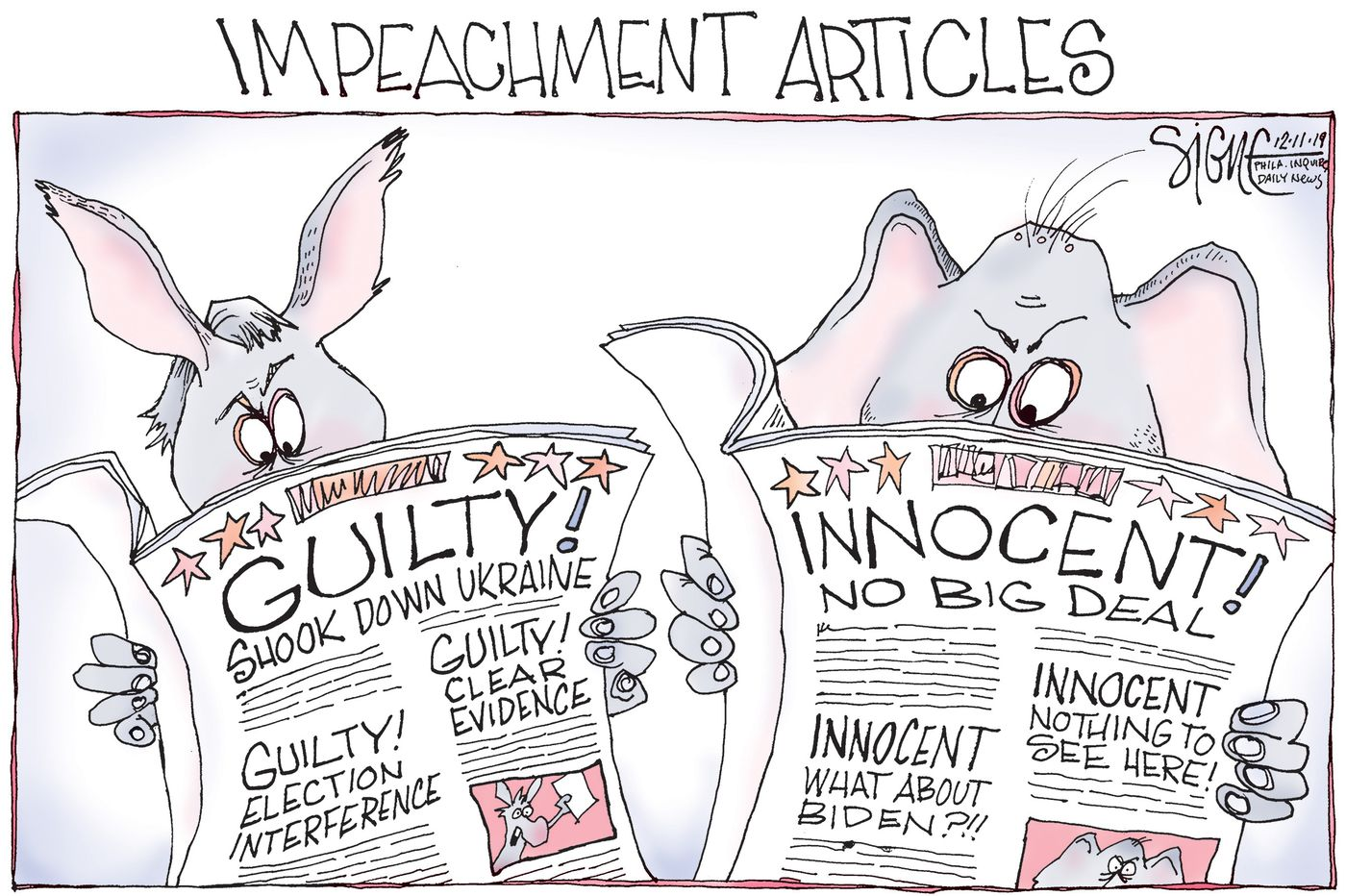 Image result for impeachment cartoon""