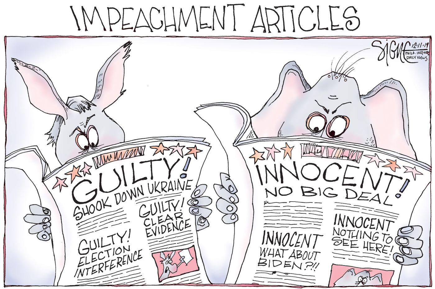 "Image result for impeachment cartoon"""