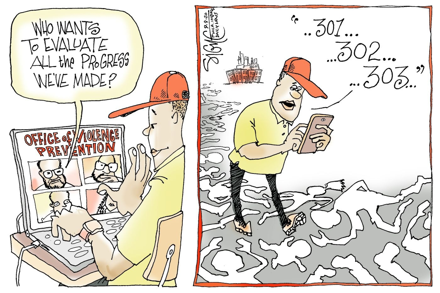 Political Cartoon: Counting Philadelphia's violence prevention