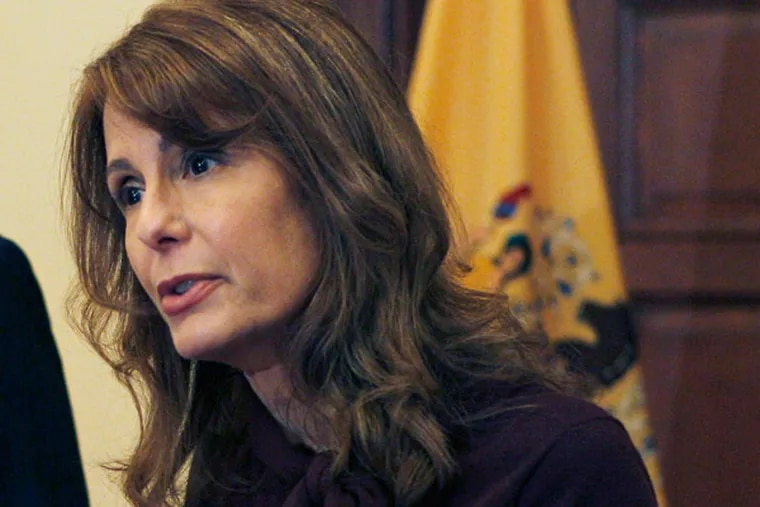 Barbara Buono must give up her Senate seat to run for governor. (Mel Evans / AP)
