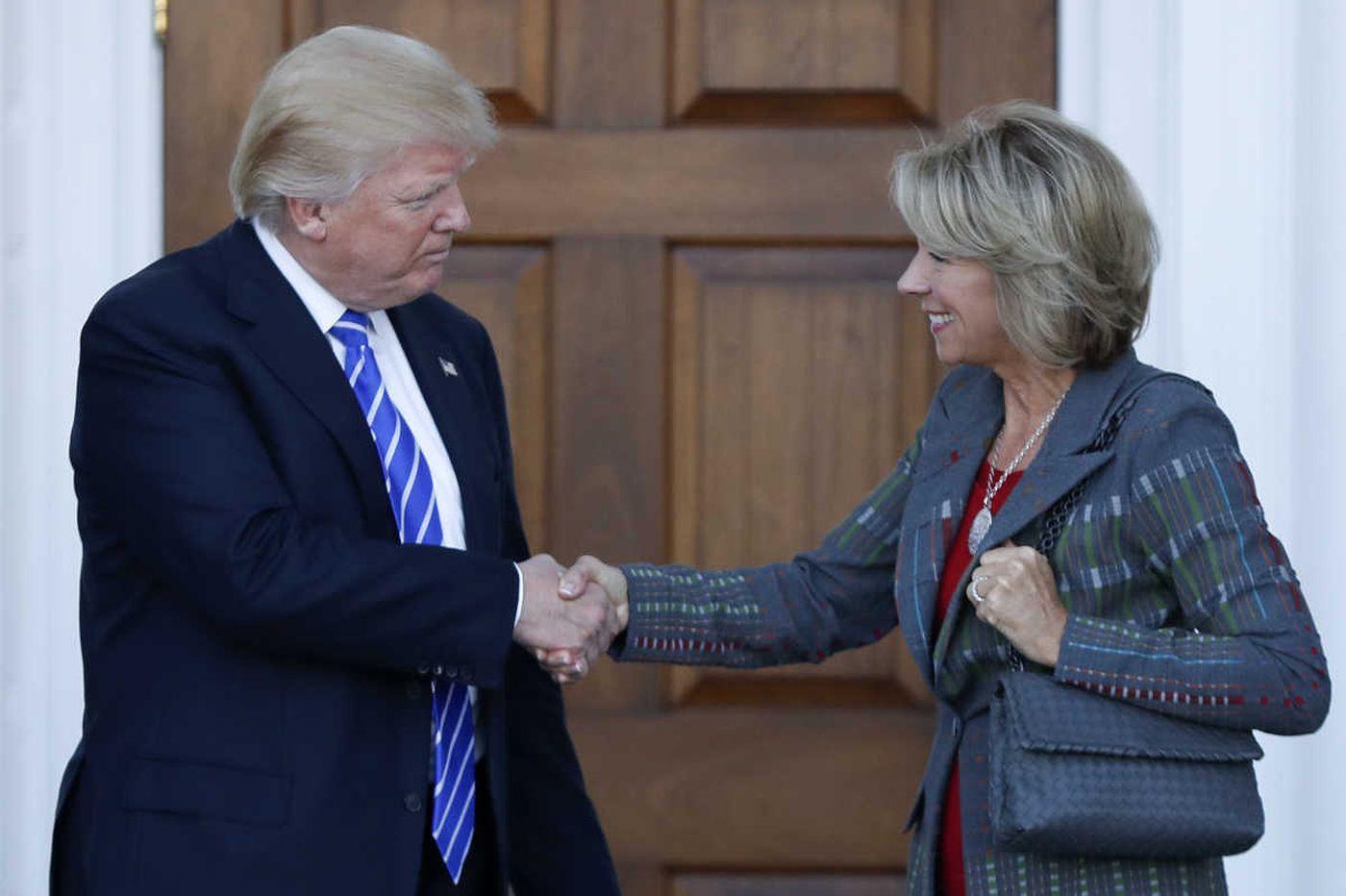Trump's choice for education secretary sparks debate