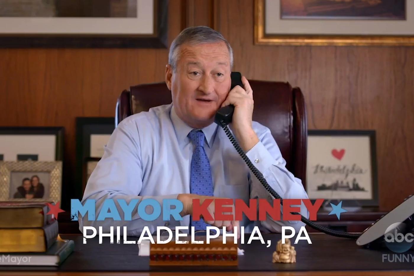 Mayor Jim Kenney recommends fist bumps over handshakes in promo for ABC's 'The Mayor'