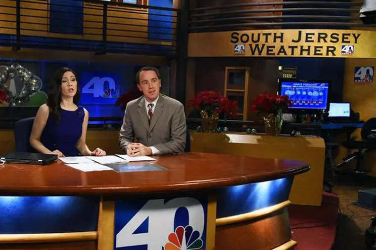 NBC40 news anchor Michelle Dawn Mooney and meteorologist Dan Skeldon during a newscast on Tuesday. The station's NBC affiliation ends at midnight Dec. 31. What will follow is unknown.