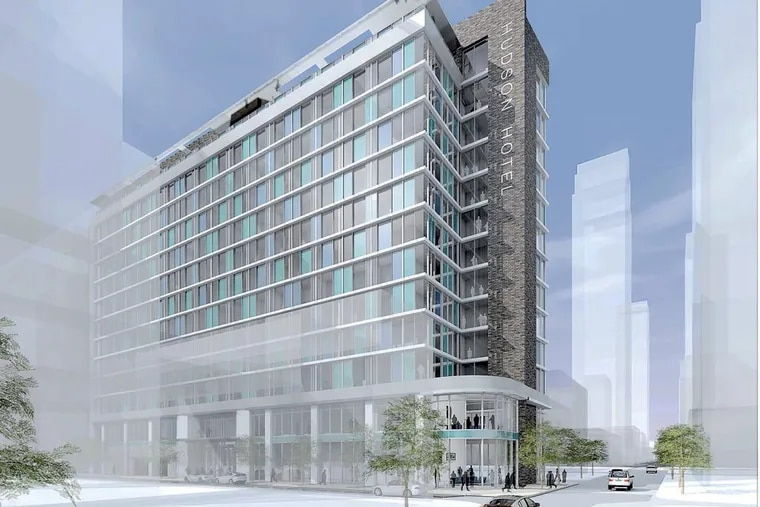 Local developer Chancellor Hotels wants to build a branch of New York's trendy Hudson Hotel in Philadelphia, with 310 rooms.