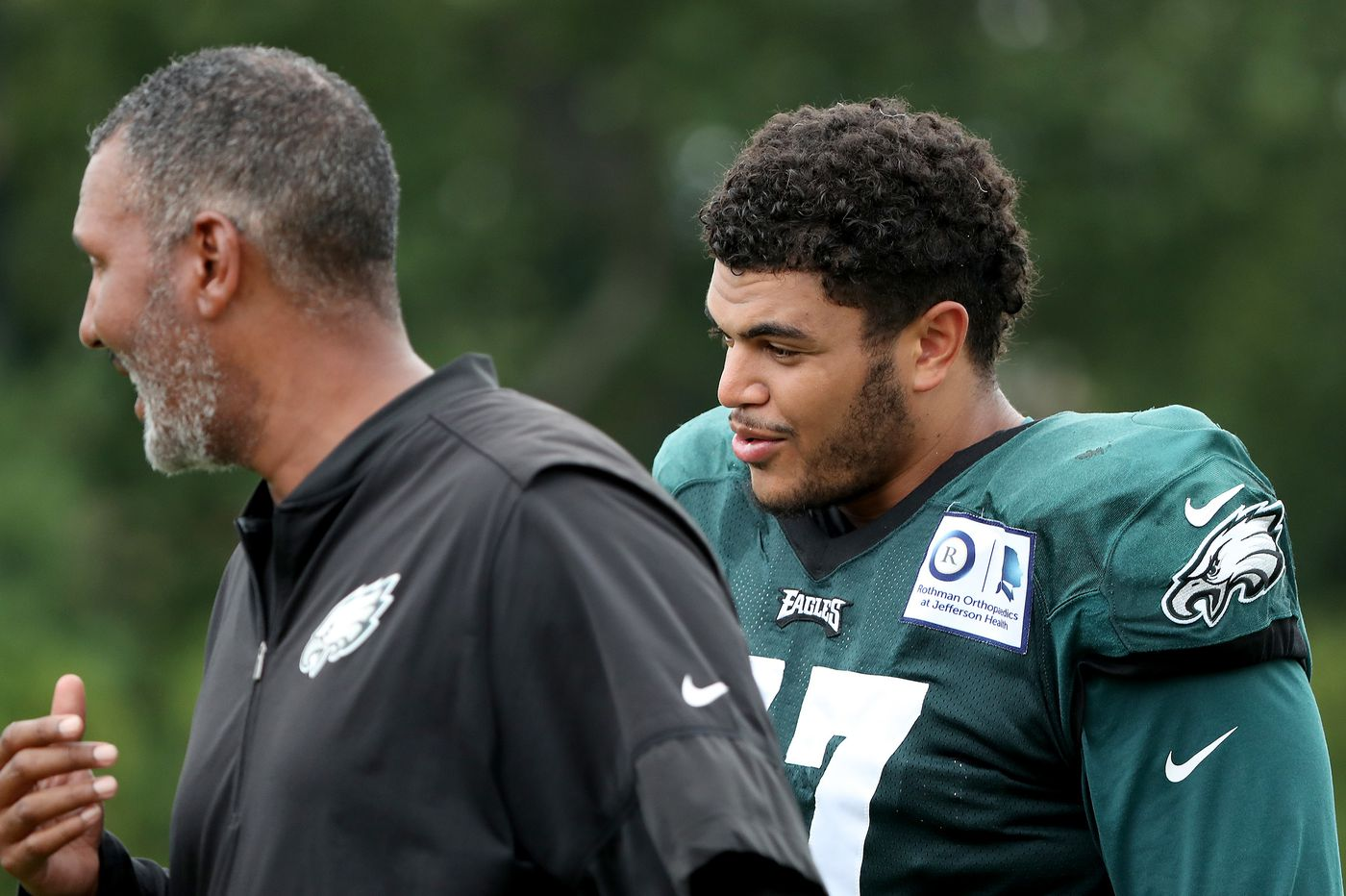 Eagles' Andre Dillard gets into scuffle second day in a row; Doug Pederson cites 'pressure to play'
