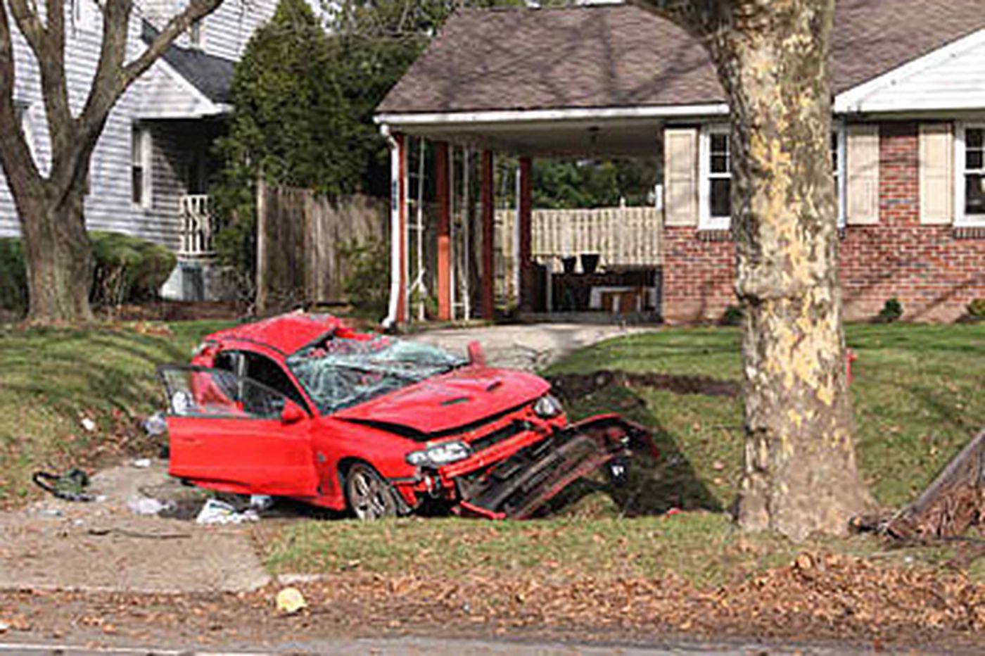 Cherry Hill crash kills driver, man pruning tree