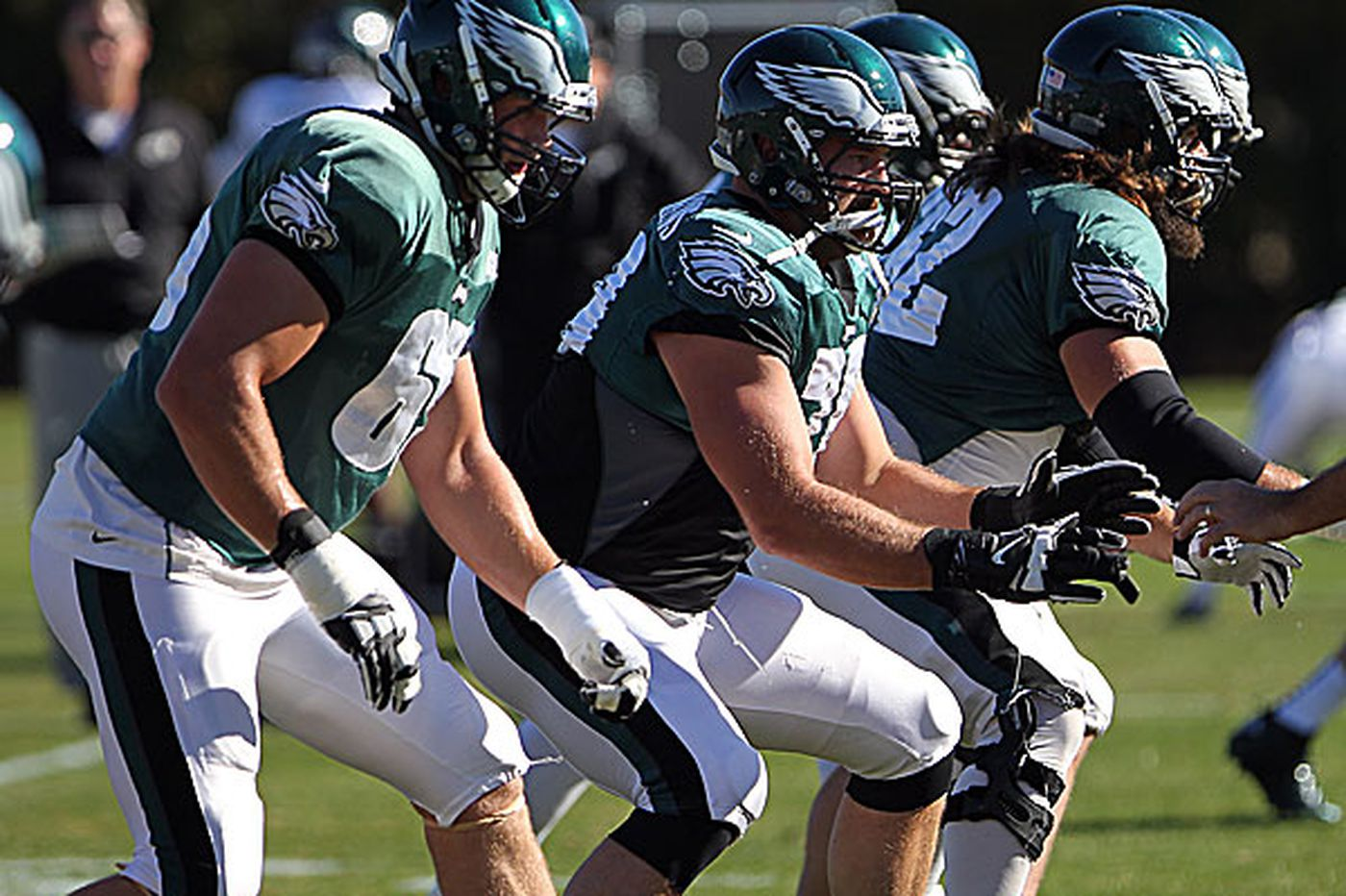 Eagles rookie tackle Lane Johnson growing on the job