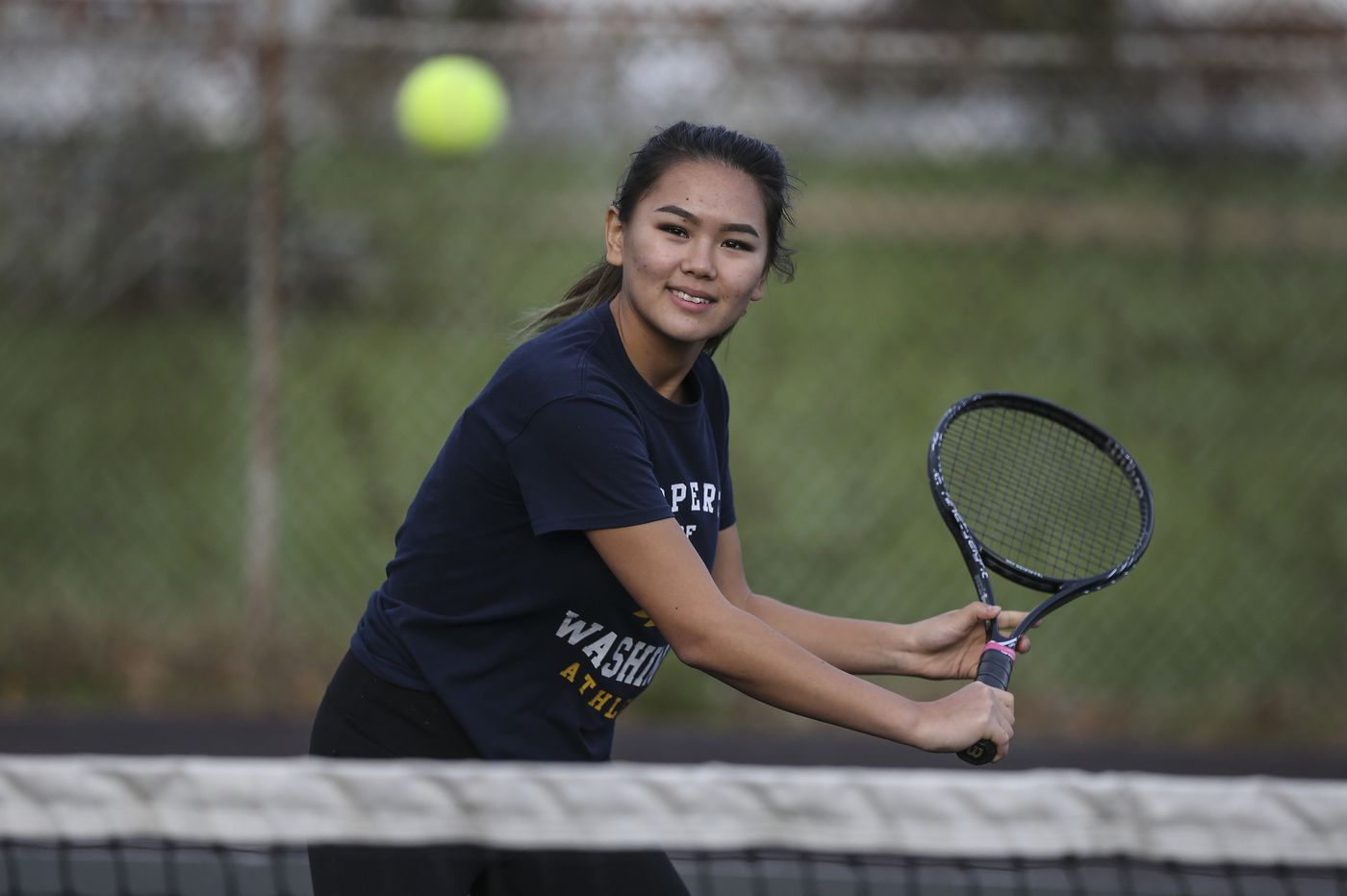 Washington's Eliza Askarova ends stellar tennis season in the Pa. state final four — again