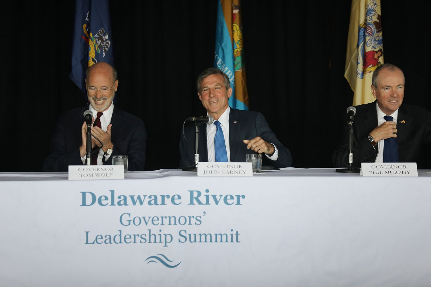 Pa., N.J., and Del. governors meet in Philadelphia, commit to health of Delaware River