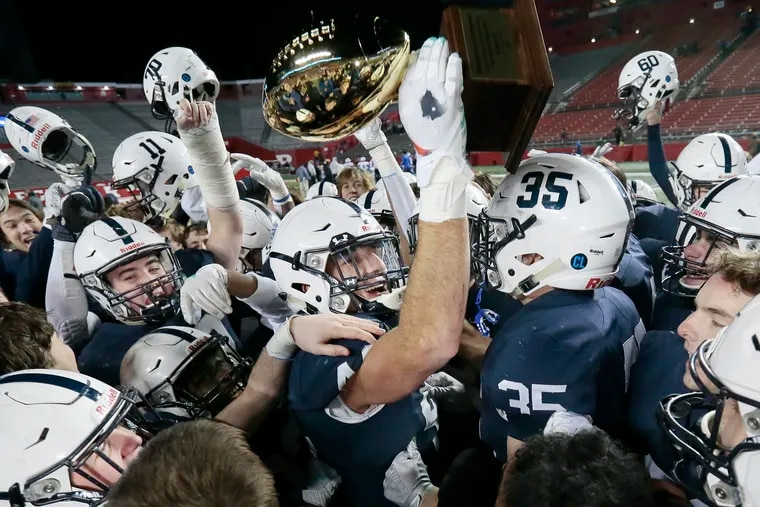Shawnee players celebrate after their 34-0 win over Hammonton.