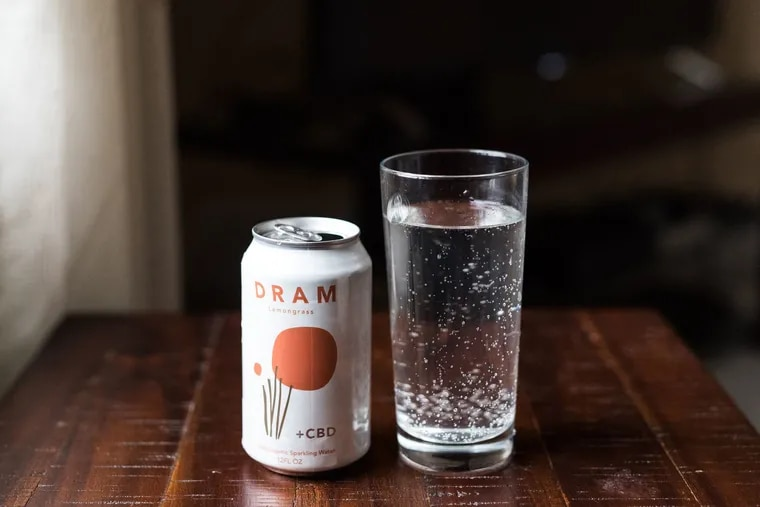The cannabis compound CBD is popping up in a wide range of products, including sparkling water (pictured here), ice cream, lotions, bath soaks, and more.
