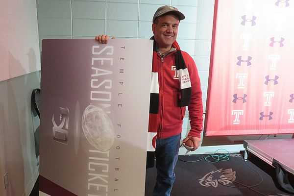 Temple grad wins pair of football season tickets for 150 years