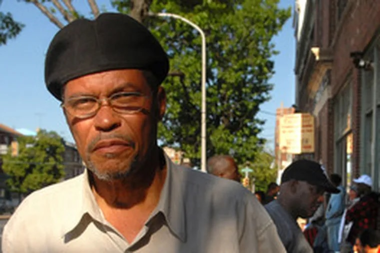 David Smith, 60, says he has been homeless for three weeks. He was among those in the meal line at Chosen 300.