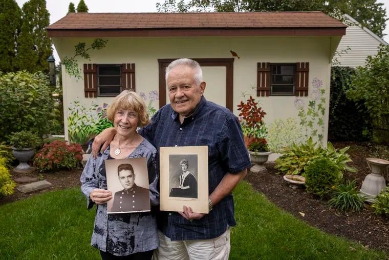 Eileen and Jon Rueckert of Lansdale, PA at their home on Tuesday, October 5, 2021. The couple met in 1961 and married in 1965.