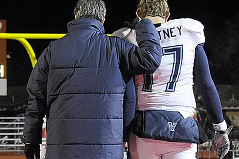 Quarterback Chris Whitney is one of many Villanova players who have played their final college game. (Christopher Anderson)