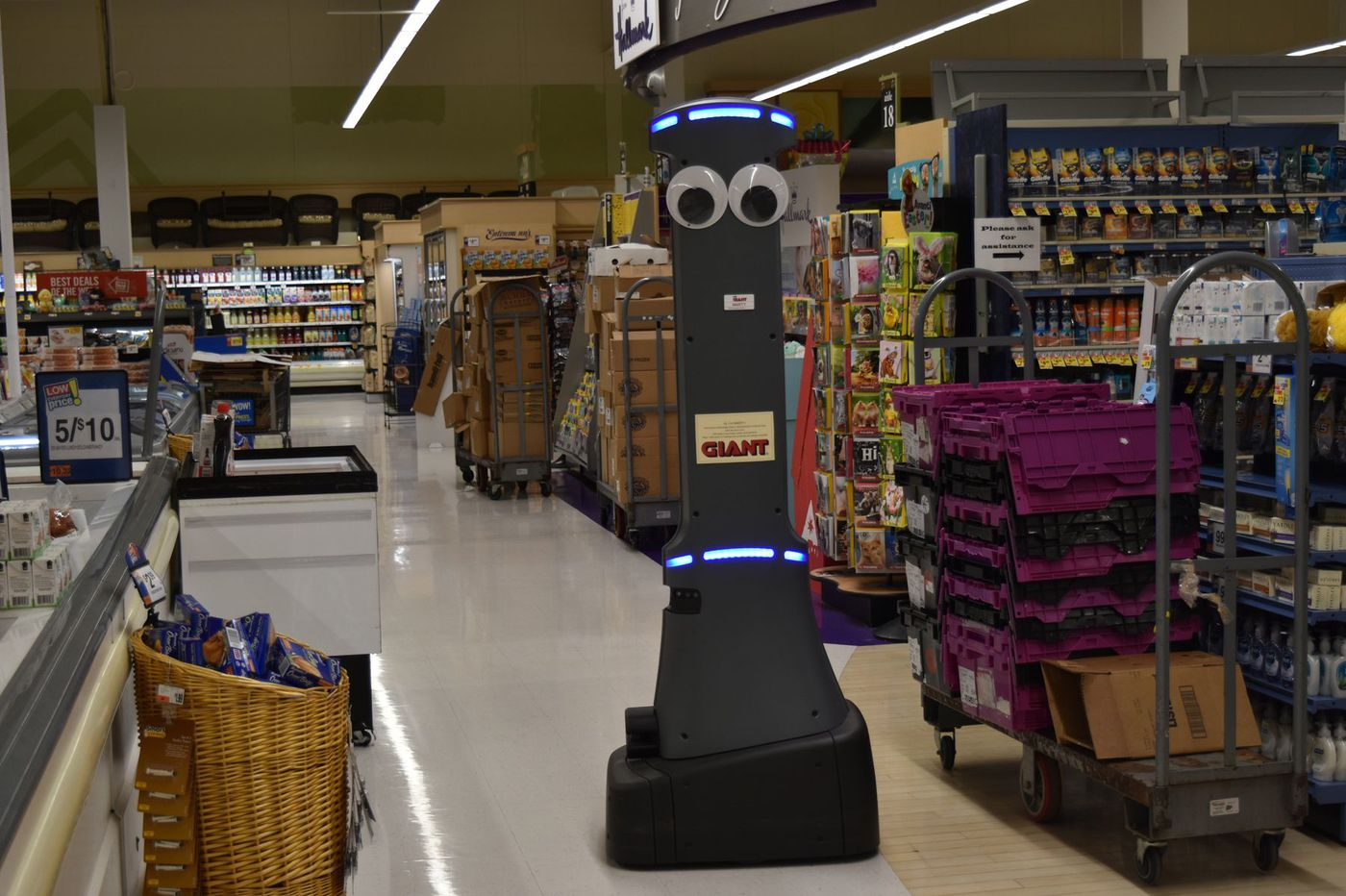 Giant Food Stores will be getting a 6-foot-5, googly eyed