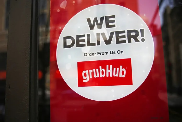 """A Philadelphia-area restaurant chain claims Grubhub, the online food delivery and takeout platform, has """"stolen"""" millions of dollars from small businesses by charging them for """"sham telephone orders."""" (Keri Wiginton/Chicago Tribune/TNS)"""