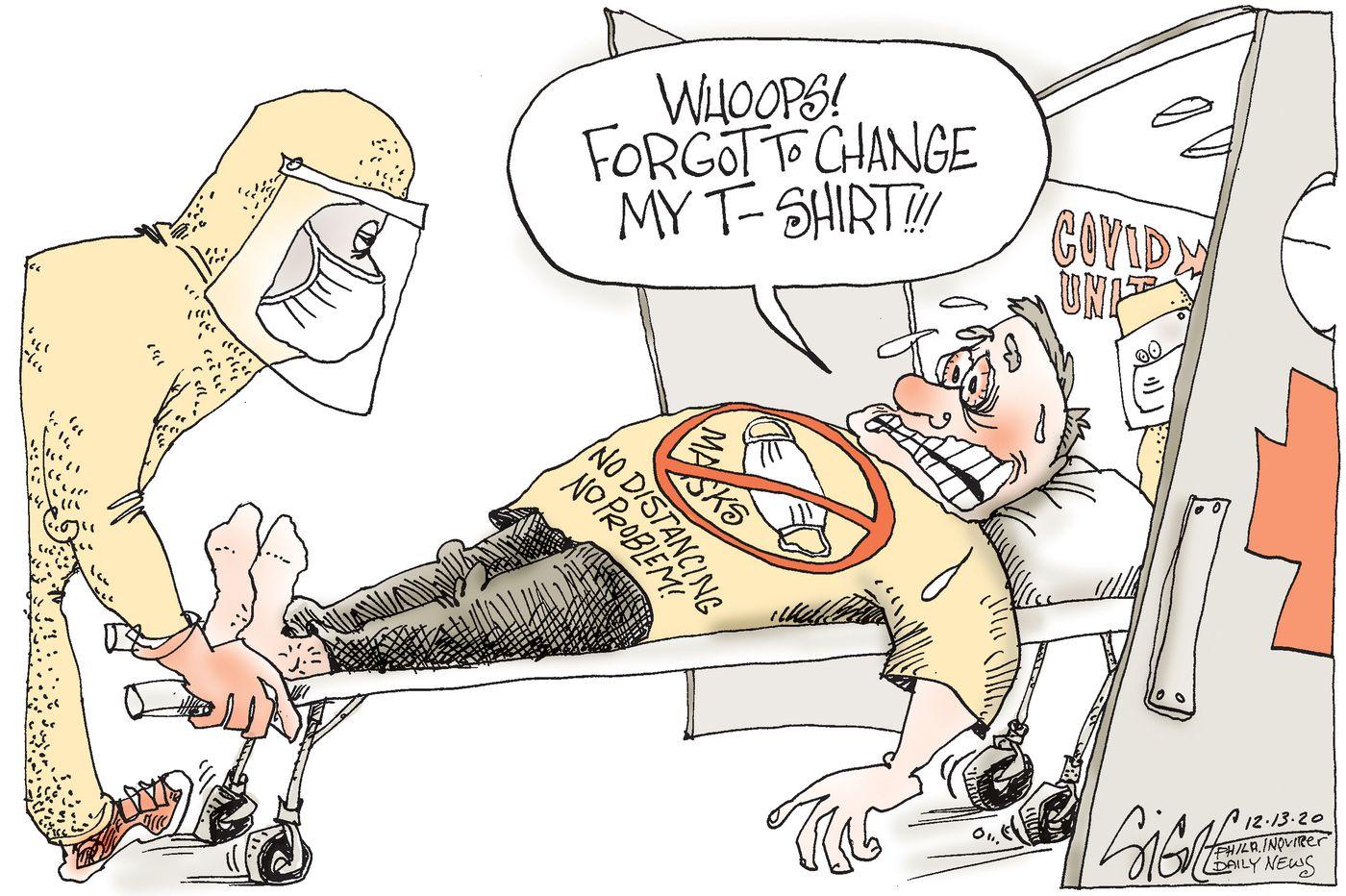 Political Cartoon: Unmask the problem