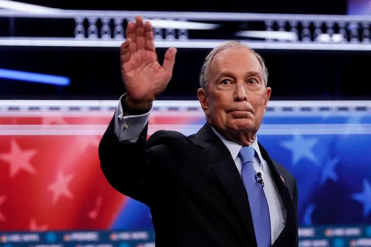 Mike Bloomberg arrives for the Democratic presidential primary debate in Las Vegas last week.