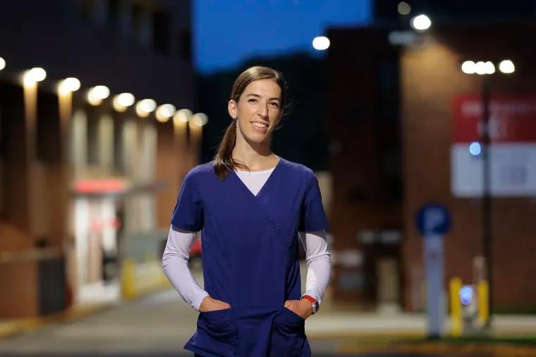 Julia Kristan, a nurse in the emergency room at Einstein Medical Center.