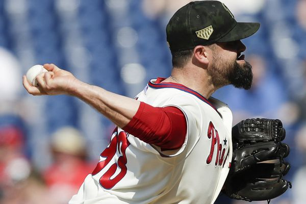 Phillies reliever Pat Neshek's hamstring injury could cost him rest of season