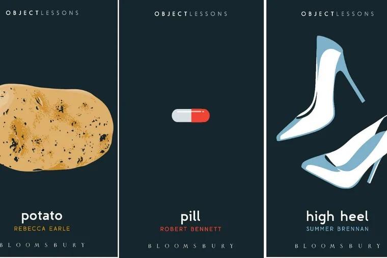 """""""Potato"""" by Rebecca Earle, """"Pill"""" by Robert Bennett, and """"High Heel"""" by Summer Brennan."""