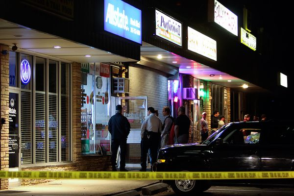 Robbery of Bucks pizza shop ends in gunfire; one suspect killed, the other wounded