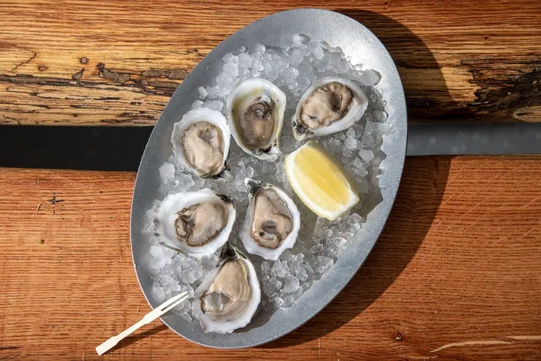 Raw oysters are shown at Sweet Amalia Market & Kitchen in Newfield, N.J.