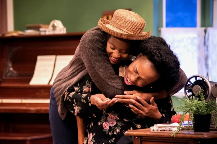 """Jessica Johnson (left) as Rachel and Zuhairah McGill as Mrs. Loving in Quintessence Theatre Group's production of """"Rachel."""""""