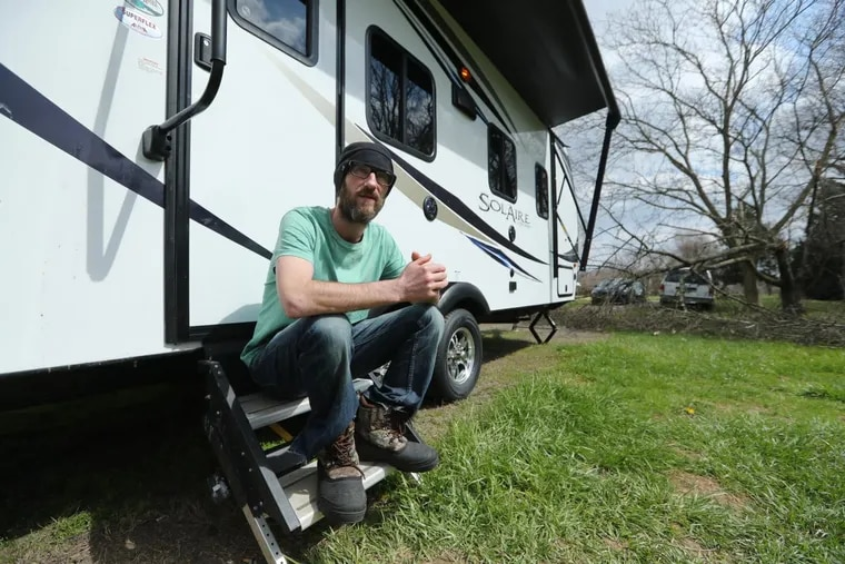 Johnny Bobbitt, the homeless man who helped a stranded motorist, is living in a new camper in rural Burlington County.