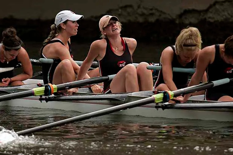 St Joe's rowers in the women's Varsity Heavyweight Eight final at the Dad Vail Regatta in May 2008.