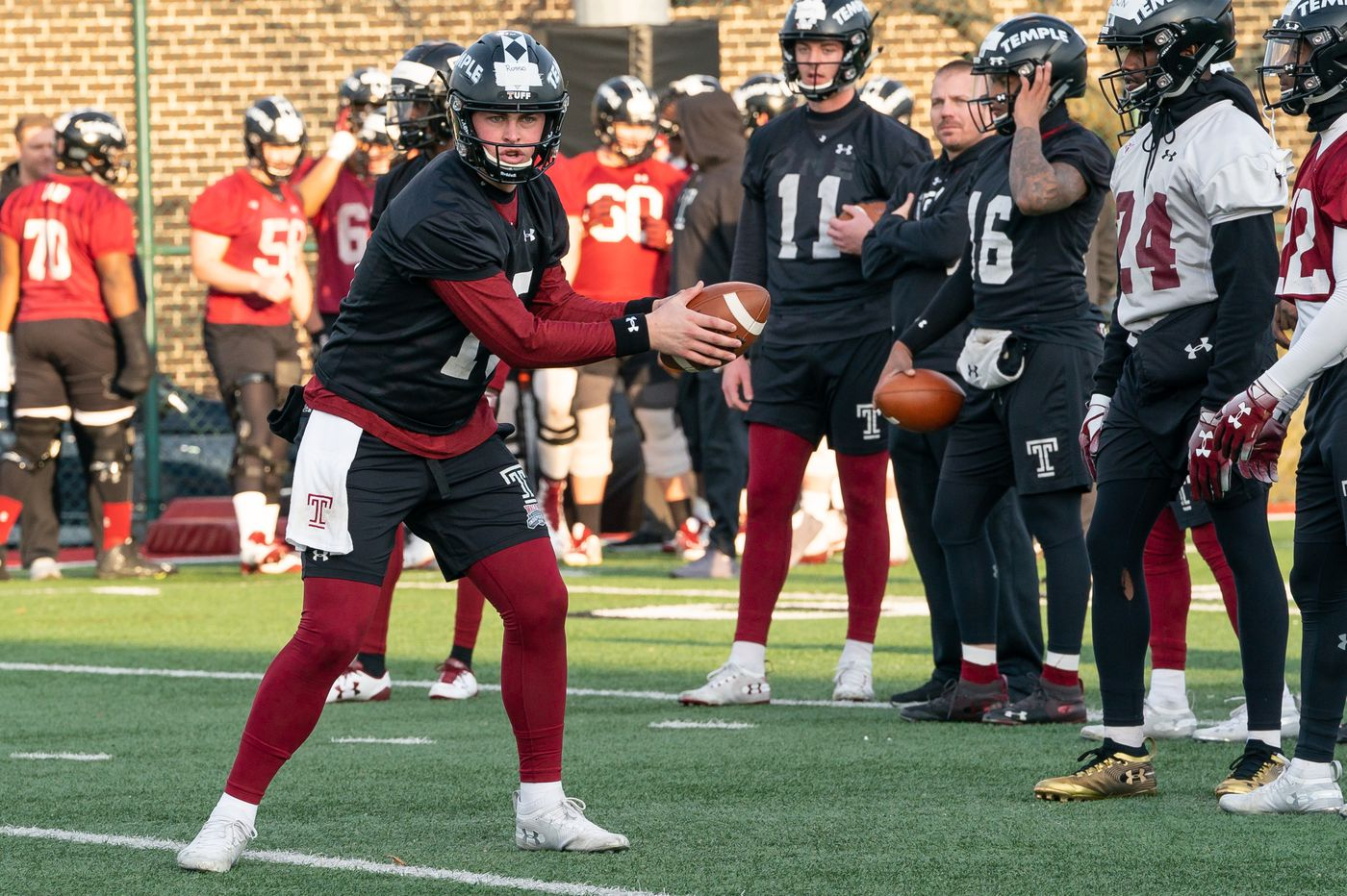 Temple QB Anthony Russo misses practice with calf injury
